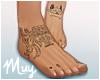 m. Bare feet w/ tats #2