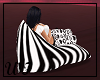 Zebra print bean bag