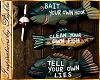 I~Fishing Rules Sign