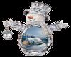 Snowman W/Lantern Alpha