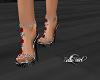 Rose Sandals -Red