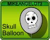 Balloon : Skull (Gray)