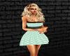 50s green poka dot dress