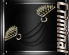 |F| Gold Shoulder Spikes