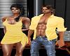 Yellow Sun Shirt Open