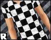 -R> Checker Tee #White
