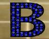 lettera B  blackblu