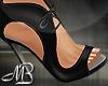 -MB- Black Tied Heels
