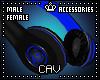 Blue Headphones M/F