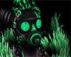 Green Dj Rave Gasmask