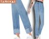 crop cuffed jeans