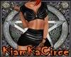 Falda top cuero negro