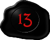 13 Black with Red 13