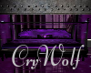 Purple Goth Bed