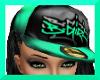 !S!BGIRL $ CAP AQUABLK