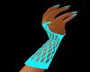 ~C T fishnet gloves