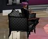 LC} Antique chair black