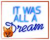 Blue Neon Dream Sign