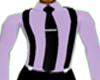 Lavender Suspenders Tie