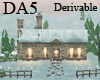 (A) Lit  Snowy Cottage