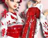JP silhouette RED kimono