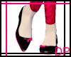 [DP] Black & Pink Flats