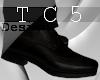 Dark formal dress shoes