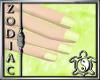 Snowflake Green Nails