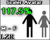 Scaler Avatar M F 117.5%