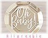 A* Baby Shower Plate