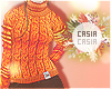 T-Neck Sweater Orange