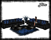 Blue/Black Sectional