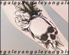 A   RL skull tattoo