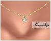 |K Tiny Necklace Diamond