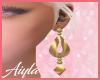Gold Q Earrings