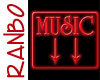 Red Neon Music Sign