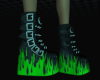 Neon Flame Boots