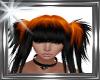 ! orange black hair