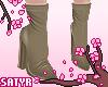 Ankle Booties Khaki