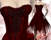 Ripped edges dress red