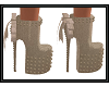 {G} Brown Stud Heels