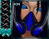 CyberGoth Blue Gas Mask