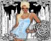{E}Ice Blue Mini Dress