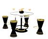 black/ gold club table
