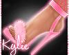 Daddy Pink Fur Heels