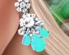 Bali Earrings Aqua