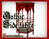 Gothic Side table dark