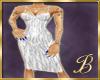 latex dress zebra white