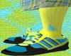 *CA* Yellow High Socks
