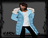 SHABBY BLUE COAT W/FUR